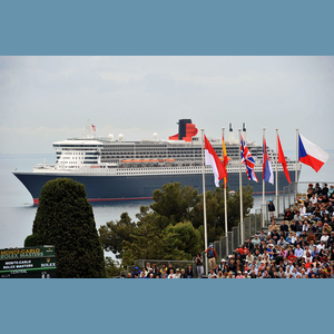 "Queen Mary 2 - On 14 April, the transatlantic liner ""Queen Mary 2"" stopped over in Monaco for a few hours.She moored in front of the Monte-Carlo Country Club, which was in full swing on the occasion of the Rolex Tennis Masters Series."