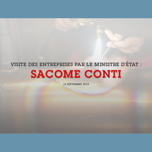 "sacome conti_Vignette - The Minister of State, Michel Roger, visited the ""Metallic and Electric Construction Workshops Society"" on Friday 14 September 2012. This society's trade name is ""SACOME"" and was founded in 1954 by Mr. Siksik in Paris, specialising in the production of espresso machines. Mr Siksik also purchased all the rights to the ""CONTI"" brand. It was in 1956 that he decided to move all his operations to the Principality, with the founding of the S.A.M which was already located on quai Antoine I. In 2003, the company moved into the new industrial premises which were built by the State. The name of this building is ""La RUCHE"", and it has a surface area of almost 3000m².SACOME is a benchmark in the world of the design, manufacturing and marketing of professional espresso machines.With a staff of 70, SACOME carries out all of its tasks, at a higher added value, in Monaco. These tasks include the manufacturing of machines. SACOME does however have a production workshop in Tunisia. Significant technical R&D resources, which are associated with the on-site integration of highly digitised industrials procedures, in the purchase or subcontracting location, are currently an important factor which is boosting the company's economical rebound. The business has always been innovative, ever since it was founded, and regularly has the cutting edge in technology over its competitors: first entirely automatic machine, hydraulic system, hydraulic pump, two boilers etc. In addition, the espresso machines always have an avant-garde and ergonomic design. Between 6 and 10% of turnover is invested into R&D.The turnover (€10 million in 2010 and €11.5 million in 2011) put CONTI among the five most significant European manufacturers of espresso machines, with more than 65% of turnover generated by exports to more than 40 countries.Copyright: Centre de Presse - Charles Franch"