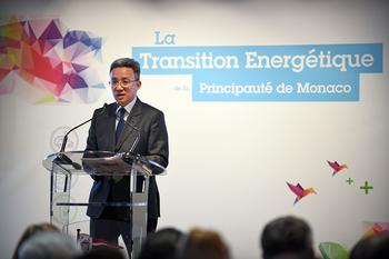 Jean-Luc Nguyen transition énergétique -  Marie-Pierre Gramaglia, Minister of Public Works, the Environment and Urban Development, and Jean-Luc  Nguyen, Director of the Mission for Energy Transition,  presented the Principality's Energy Transition White  Paper to all those who helped to draft it on 23 March  at the Yacht Club, in the presence of H.S.H. the  Sovereign Prince.  © Manuel Vitali – Government Communication Department