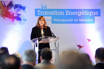 "PNTE Gramaglia - Marie-Pierre Gramaglia, Minister of Public Works, the Environment and Urban Development, at the ""At the Heart of Energy Transition – The Main Players"" event. © Government Communication Department / Manuel Vitali"