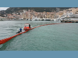 Closure of Ports in Monaco Due to a Large Layer  of Macro-Waste