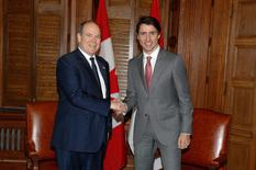 Visite Souverain Canada - H.S.H. the Sovereign Prince meets Canadian Prime Minister Justin Trudeau © Prince's Palace/Frédéric Nebinger