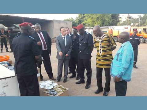 Monaco's firefighters pay working visit to Burkina Faso