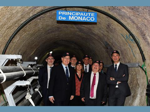 Inauguration of the Principality's 3rd Electrical Substation
