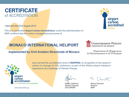 Monaco Heliport is world's first carbon accredited heliport