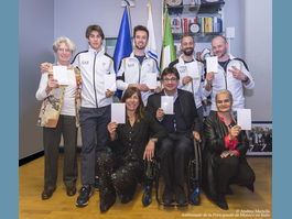 White Cards in Rome with the Italian Pyeongchang 2018  Paralympic Medallists