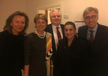 Cecilia Bartoli Berlin -   From left to right: Barbara Zumbaum, Monaco's Honorary Consul in Potsdam; H.E. Ms Isabelle Berro-Amadeï, Monaco's Ambassador to Germany; Lorenzo Ravano, Minister Counsellor at Monaco's Embassy in Germany; Cecilia Bartoli and Jean-Louis Grinda, Director of the Monte-Carlo Opera © DR