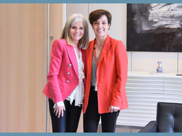 Monaco's Women's Rights Officer is Received  by the Ambassador of Canada