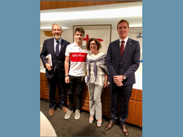 The Racing Driver Charles Leclerc is Received by the Ambassador  of Monaco to Australia