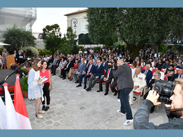 Prize ceremony for Monegasque language competition