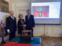 Director of Prince's Palace Archives and Library gives lecture at Monaco's Embassy in Italy