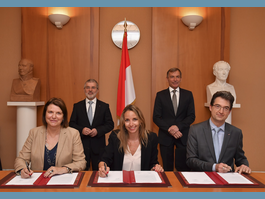 Signature of two partnership agreements between Princess Grace Hospital and  Department of Education, Youth and Sport, and between Princess Grace Hospital and  Monte-Carlo Philharmonic Orchestra