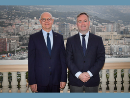 36th IOF Ministerial Conference H.E. Minister of State holds meeting with Jean-Baptiste Lemoyne