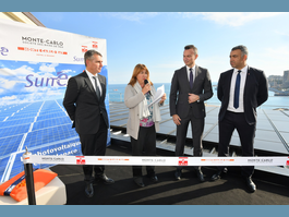 Inauguration of solar panel installation at Monte-Carlo Bay