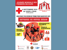 "World First Aid Day  - ""You don't need a permit to save lives!"" - 8 September 2018 at the Fontvieille Big Top"