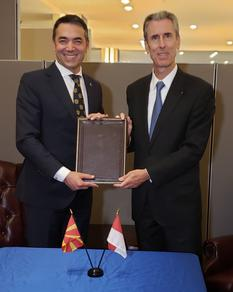 Macédoine - Gilles Tonelli, Minister of Foreign Affairs and Cooperation of the Principality of Monaco, and Nikola Dimitrov, Minister of Foreign Affairs of North Macedonia  ©DR