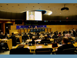 Monaco's Permanent Representation to the European Union - Director of the Prince's Palace Archives and Library gives presentation  to European Parliament