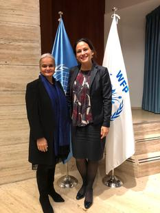 Monaco PAM - Ms Martine Garcia-Mascarenhas, Deputy Representative to the FAO and the WFP, and Ms Virginia Villar Arribas, the new WFP Country Director in Burundi © DR