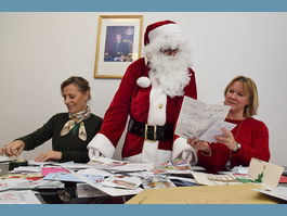Father Christmas Opens his Secretariat at Monaco Post Office