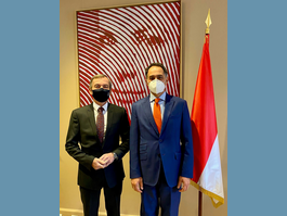 Meeting between Mr. Didier Gamerdinger and Mr. Giulio Alaimo,  New Italian Ambassador to the Principality of Monaco