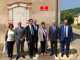 Inauguration of the Rue de Monaco in Moulainville