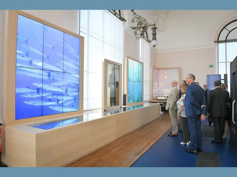 "Minister of State views new ""Monaco and the Ocean, From Exploration to Protection"" space at Oceanographic Museum"